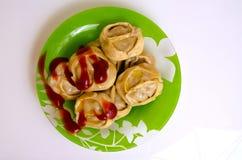 Manty, mantu или buze, позиции - традиционное мясное блюдо  Стоковое Фото