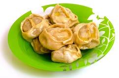 Manty, mantu или buze, позиции - традиционное мясное блюдо  Стоковые Изображения RF