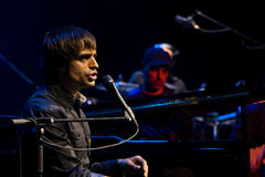 Manu Guix in concert. Barcelona Royalty Free Stock Photo