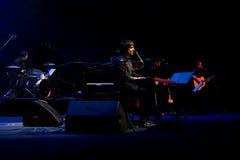 Manu Guix in concert. Barcelona Stock Image
