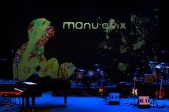 Manu Guix de concert. Barcelone Images stock