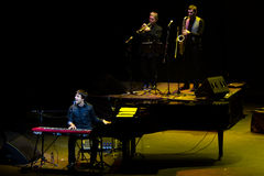 Manu Guix im Konzert. Barcelona Stockfoto