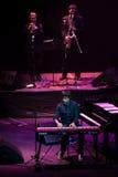 Manu Guix im Konzert. Barcelona Stockfotos