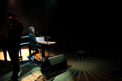 Manu Guix no concerto. Barcelona foto de stock royalty free