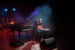 Manu Guix no concerto. Barcelona fotografia de stock