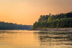 Manu National Park, Perù - 6 agosto 2017: Paesaggio del Ama fotografia stock libera da diritti