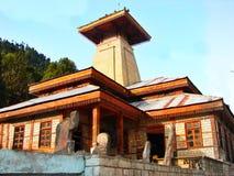 Manu temple, Manali. Manu temple at Manali, Uttarakhand, India royalty free stock images
