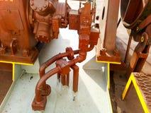Manuał zamykająca klapa ujście drymba dostawy wody linia przeciwogniowy system Obraz Royalty Free