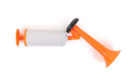 Manual air horn isolated Royalty Free Stock Photo