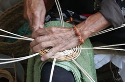 Artisan basketry. Manual and artisan work of basketry stock image