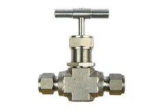 Manual ball valve or stainless steel ball valve  on white background Stock Photos