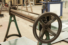 Manual Bending Roller Machine Royalty Free Stock Photography