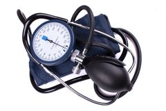 Manual blood pressure medical tool Royalty Free Stock Photos