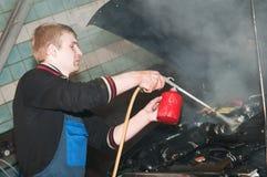 Manual car washing Stock Image
