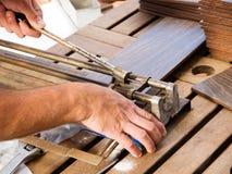 Free Manual Ceramic Cutting Machine Royalty Free Stock Photography - 32887237