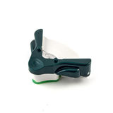 Manual cutter angles isolated on white. Manual green cutter angles isolated on white Royalty Free Stock Image