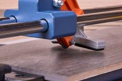 Manual cutter ceramic tile. Stock Photos