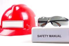 Manual da segurança. fotos de stock