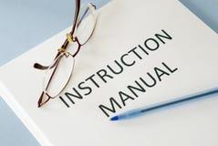 Manual de la instrucción imágenes de archivo libres de regalías