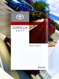 Manual del coche de Toyota Corolla Fotos de archivo