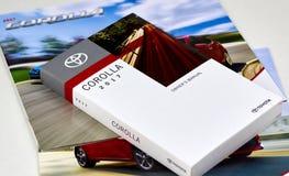 Manual del coche de Toyota Corolla Imagenes de archivo