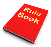 Manual do livro da regra ou do guia da política ilustração stock