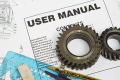 Manual do usuário Imagem de Stock Royalty Free