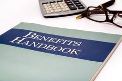 Manual dos benefícios Foto de Stock