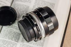 Manual focus lens Stock Photo