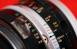 Manual focus SLR vintage lens Stock Photography