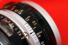 Manual focus SLR vintage lens Stock Image