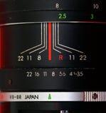 Manual focus SLR vintage  zoom lens Stock Images