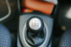 Manual gear. In the car royalty free stock photo