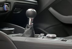 Manual gear shift handle Royalty Free Stock Images
