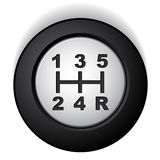 Manual gear shifter Royalty Free Stock Photos