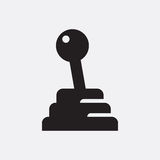 Manual gear stick. Vector icon isolated on grey background stock illustration