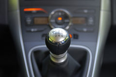 Manual gearbox shifter Stock Images