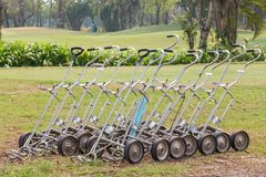 Manual Golf Trolley Stock Images