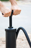 Manual inflate mattres air pump Royalty Free Stock Images