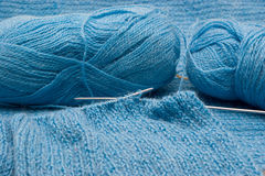 Manual knitting Royalty Free Stock Images