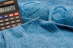 Manual knitting Stock Photo