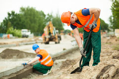 Manual labourer working Stock Image