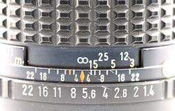 Manual lens depth of field Stock Photo