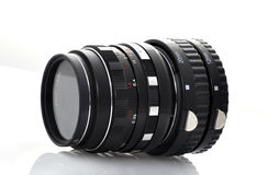 Manual lens with a  macrocycle Royalty Free Stock Photography