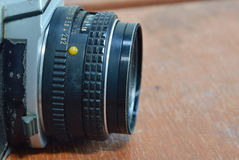 Manual lens for single lens reflect camera Stock Photo