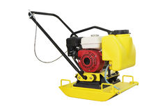 Manual leveling machine asphalt Royalty Free Stock Photos