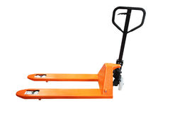 Manual loader. The image of manual loader under the white background Stock Photo