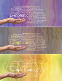 Manual Lymphatic Drainage Word Cloud x 3 banners Royalty Free Stock Image