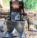 Manual mechanism for making juice from sugar cane Royalty Free Stock Photos