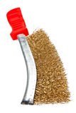 Manual metal brush with the red handle Stock Image